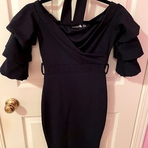 Boohoo Night Midi Dress - Navy